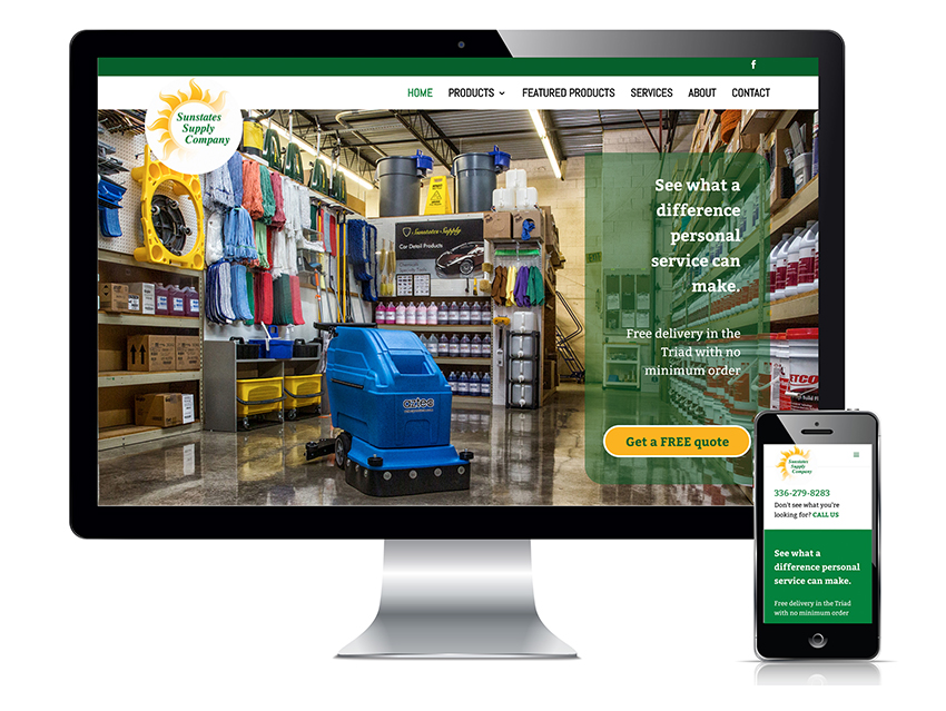 Sunstates Janitorial Supply of Greensboro web development