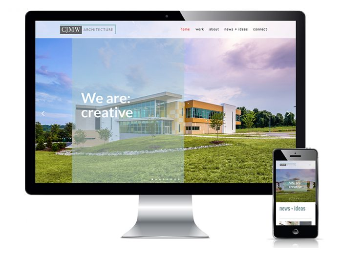 CJMW Architecture Winston-Salem website design
