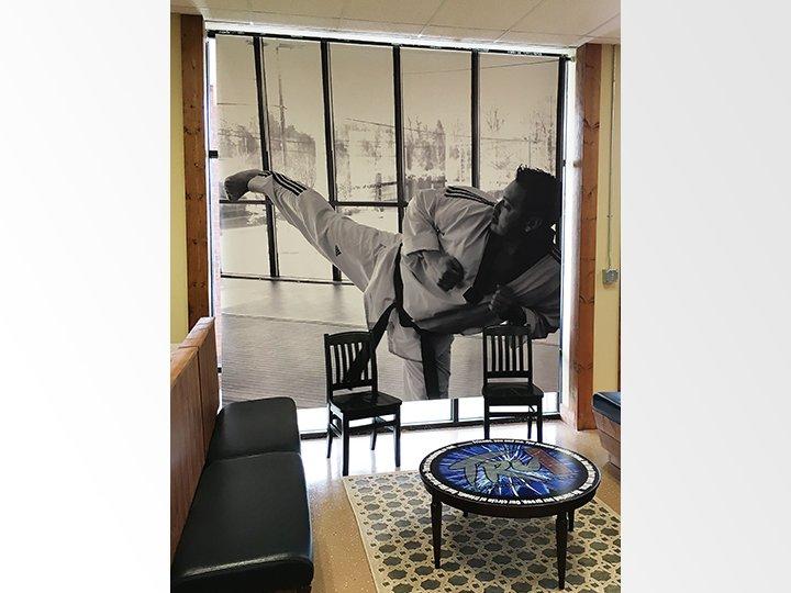 TRU Taekwondo Window Banner