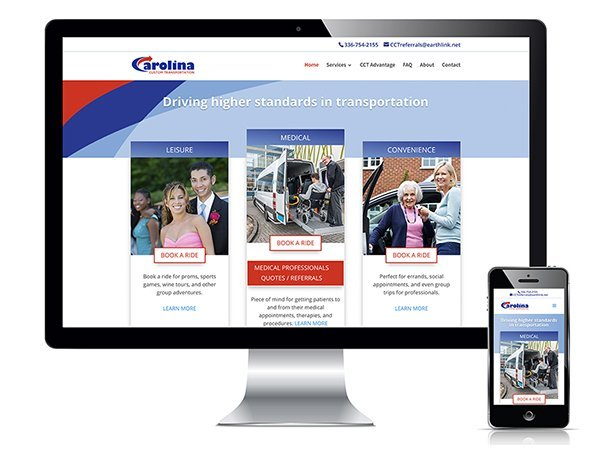Carolina Custom Transportation of Winston-Salem, NC website design