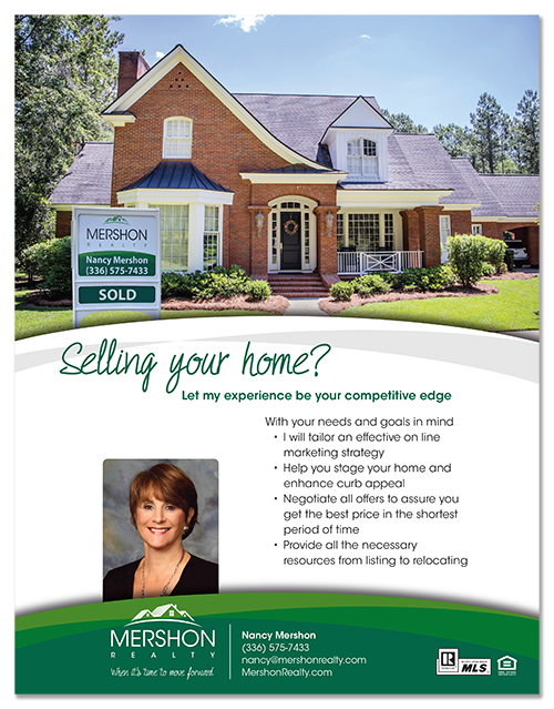 real estate magazine advertisement design for sellers