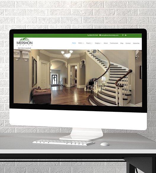 full mobile-friendly website redesign for Mershon Realty website