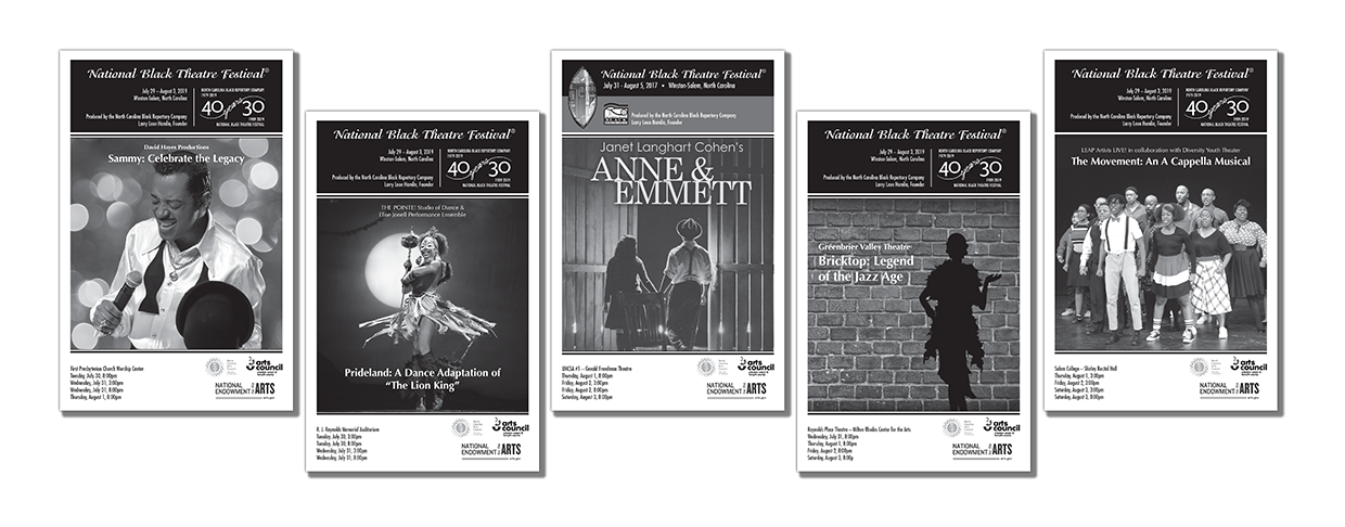 theatre festival playbill graphic design