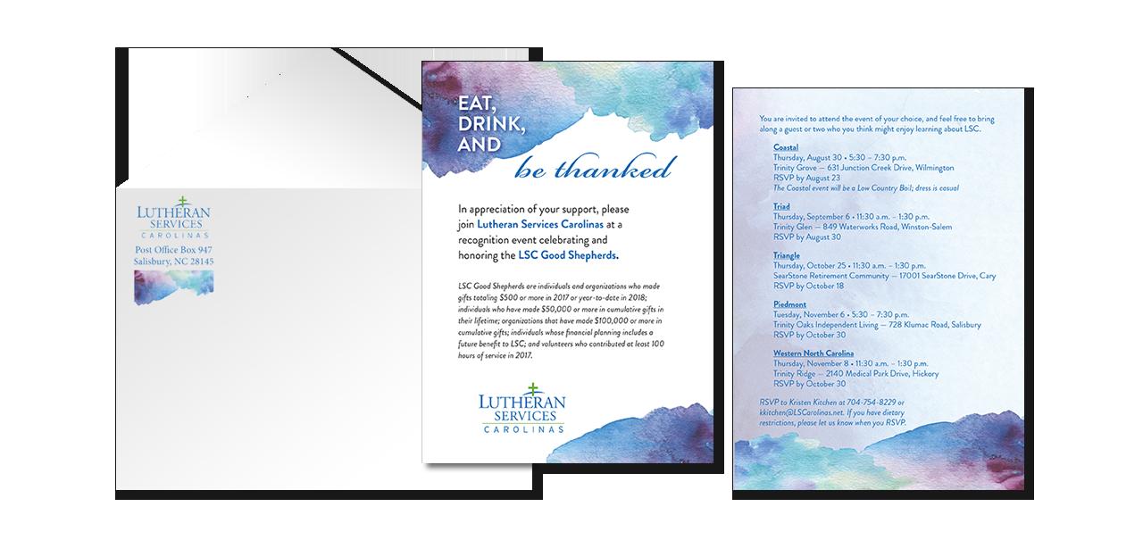donor event invitation graphic design