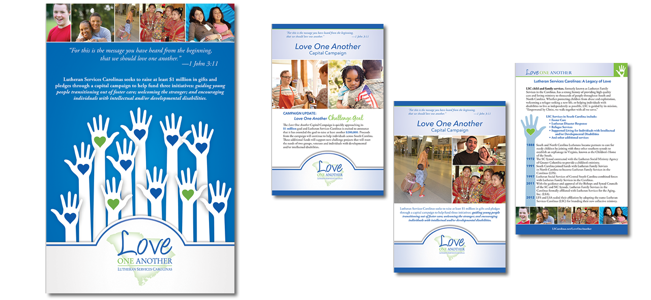 Graphic design for congregational promotion, poster and bulletin inserts