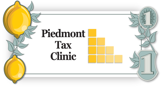 Piedmont Tax Clinic logo design