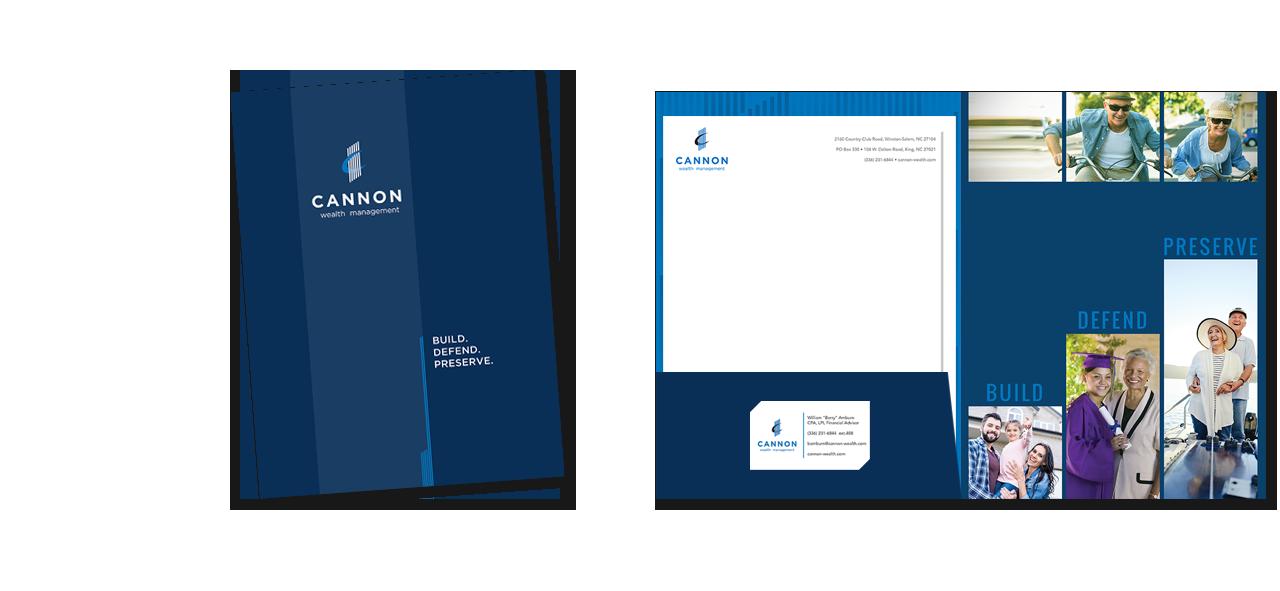 Cannon Wealth Management brochure design