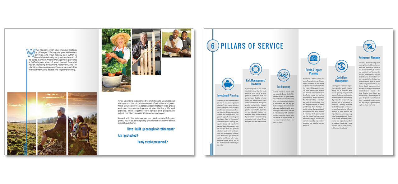 Cannon Wealth Management brochure design