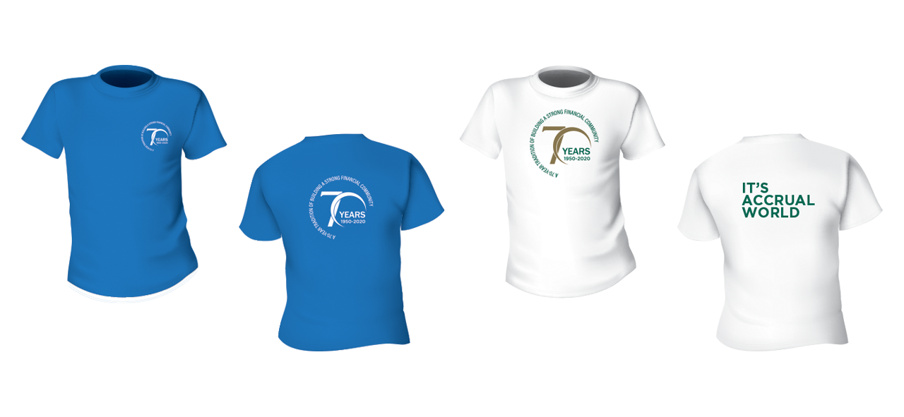 Cannon 70 year anniversary logo design on t-shirt design