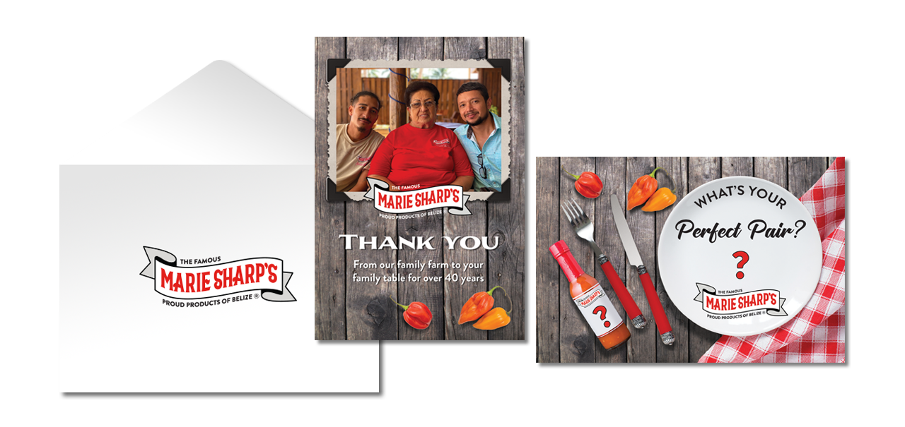 Marie Sharp's Thank You Cards