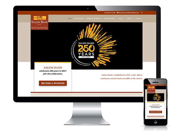 Salem Band website design