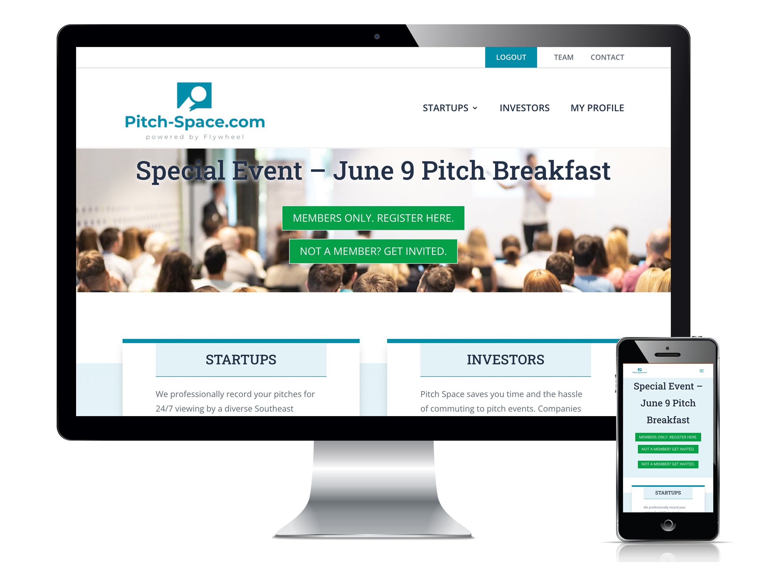 Pitch Space Custom Member Profile Website